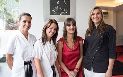 Priscila Toste, Luciana Silva, Débora Cardoso e Susana Parreira
